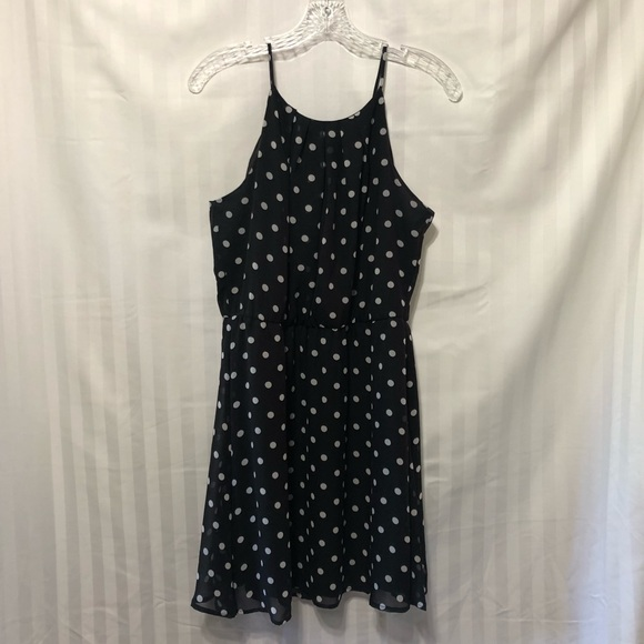 Charlotte Russe Dresses & Skirts - Polka dot little black dress!